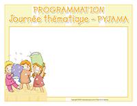 Programmation-Journée thématique-Pyjama
