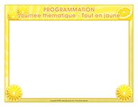 Programmation-Journée thématique-Tout en jaune
