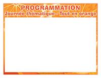 Programmation-Journée thématique-Tout en orange