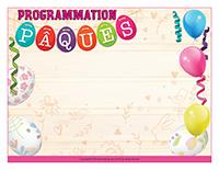 Programmation de Pâques 2018