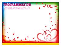 Programmation de la Saint-Valentin