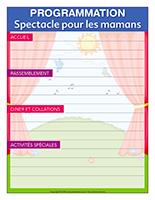 Programmation interactive-Journée spéciale-Spectacle pour les mamans