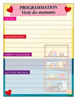 Programmation interactive-Journée spéciale-Visite des mamans