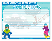 Programmation interactive-Sports d'hiver