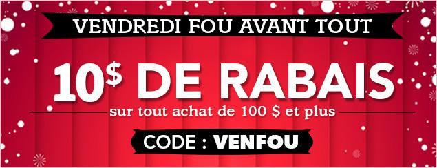 10$ DE RABAIS
