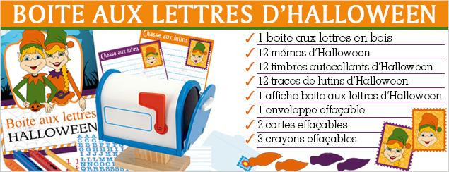 boite lettre halloween