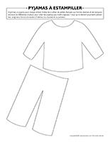 Pyjamas à estampiller