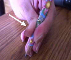 Questionnement sur la prise du crayon - 5