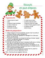 Recette-Biscuits en pain d'épices
