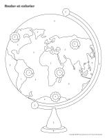 Rouler et colorier-3D Jour de la Terre