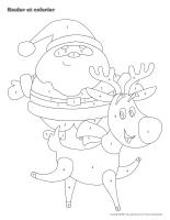 Rouler et colorier-3D-Noël