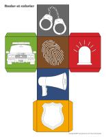 Rouler et colorier 3D-Policiers-Policières-1
