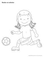 Rouler et colorier-3D-Soccer