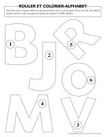 Rouler et colorier-Alphabet