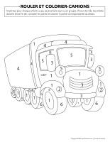 Rouler et colorier-Camions