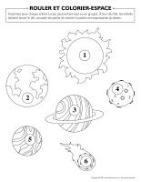 Rouler et colorier-Espace