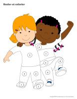 Rouler et colorier-Journée de l'enfant