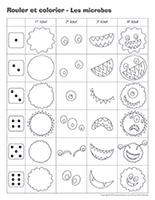 Rouler et colorier-Les microbes