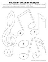 Rouler et colorier-Musique