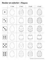Rouler et colorier-Pâques