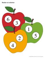 Rouler et colorier-Pommes