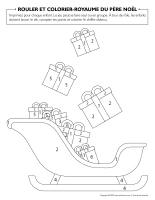 Rouler et colorier-Royaume du père Noël