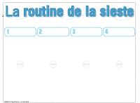 Routine visuelle de la sieste