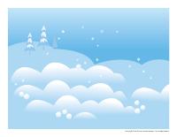 Scène de jour de neige