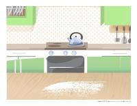 Scène de la pâtisserie