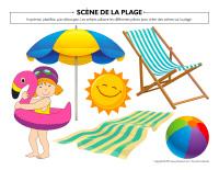 Scène de la plage-1