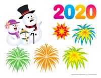 Scène du Nouvel An 2020