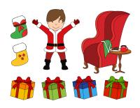 Scène tradition de Noel-Le père Noel-2