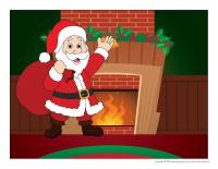 Scène tradition de Noel-Le père Noel