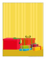 Scène tradition de Noel-Les cadeaux