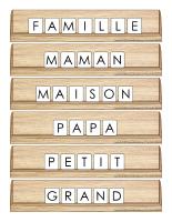 Scrabble réinventé-Famille