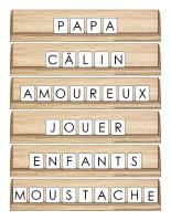 Scrabble réinventé-Fête des Pères