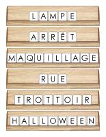Scrabble réinventé-Halloween-La sécurité
