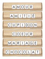 Scrabble réinventé-Saint-Valentin