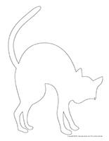 Silhouette chat noir