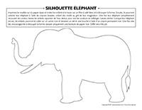 Silhouette éléphant