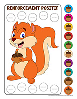 Système de renforcement positif les écureuils