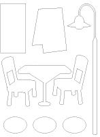 Tableau de feutrine - Le restaurant