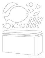 Tableau de feutrine-L'aquarium
