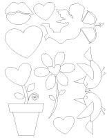 Tableau de feutrine-La St-Valentin