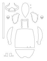 Tableau de feutrine-Les Vikings