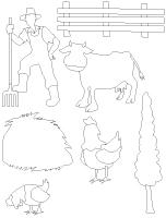 Tableau de feutrine-Les animaux de la ferme
