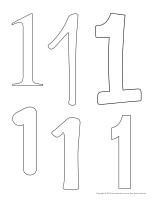 Tableau de feutrine géant-Le chiffre 1