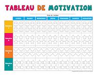 Tableau de motivation à colorier-Rentrée