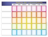 Tableau pour donner des responsabilit s aux enfants - Tableau taches menageres imprimer ...