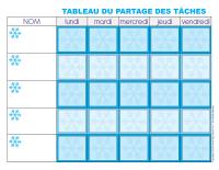 Tableau des tâches-L'hiver-1